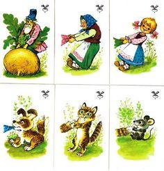 Dedko a repa daj hľadať Googlom : Сказки по карточкам