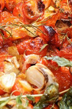 Roasted Tomatoes with Garlic #Recipe