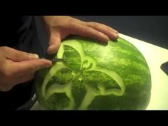 Butterfly Kisses... Carved Watermelon