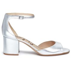 Sam Edelman 'Susie' block heel metallic leather sandals (655 RON) ❤ liked on Polyvore featuring shoes, sandals, metallic, leather shoes, sam edelman sandals, genuine leather shoes, metallic block heel sandals and real leather shoes