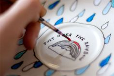 How-to: Hand-Painted Tea Cup and Saucer. A craft that I would love to try sometime soon.
