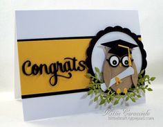 Graduation Owl by kittie747 - Cards and Paper Crafts at Splitcoaststampers