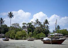 Dhows on Nungwi beach, Zanzibar, Tanzania