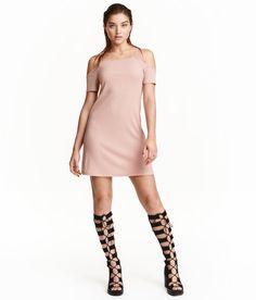 H&M - Open-shoulder Dress - Black/white striped - Ladies • H&M • $9.99