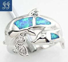 s6-AMAZINNG-DOLPHIN-BLUE-FIRE-OPAL-WHITE-TOPAZ-STERLING-SILVER-RING-SIZE-6
