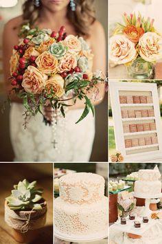 fall vintage wedding color palette  For more insipiration visit us at https://facebook.com/theweddingcompanyni or http://www.theweddingcompany.ie