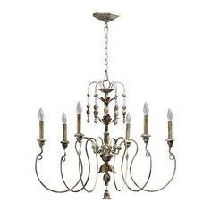 Buy the Quorum International 6006-6-70 Persian White Direct. Shop for the Quorum International 6006-6-70 Persian White Salento 6 Light 1 Tier Chandelier and save.