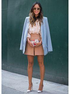 Fun spring work style  Street Style Fashion Week Spring 2015 - NYFW Street Style Photos - Marie Claire