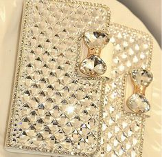 Luxury Bling Bling Crystal Diamond Leather Flip Case Cover For Samsung Galaxy S6 Edge Plus Note 5 Note 4