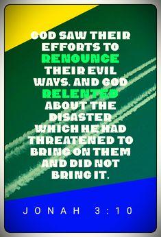 Jonah 3:10 Prophet Jonah, Effort, God, Dios, Allah, The Lord
