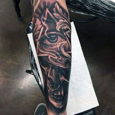 All Seeing Eye With Skull Inner Forearm Male Tattoos