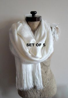 Hey, I found this really awesome Etsy listing at https://www.etsy.com/listing/217878116/set-of-5-ivory-wedding-scarf-wooly
