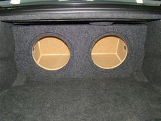 2011-2015 Dodge Charger Subwoofer Enclosure With Recessed Face (Ver. 2)