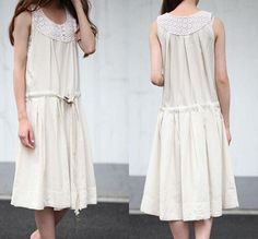 Neckline Voile lace Sleeveless dress by MaLieb