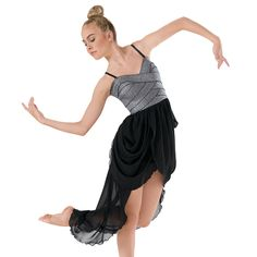 Metallic Corset High-Low Lyrical Dress | Balera™ (This is my costume for 2015 team lyrical dance) -Syrena