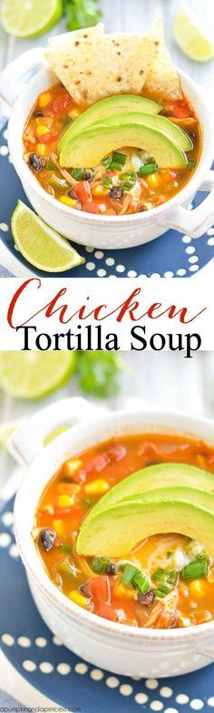 Chicken Tortilla Soup Recipe