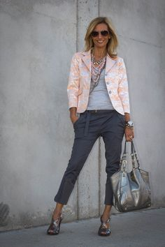 Jacket Society : Cool and feminine mix