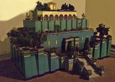 Model of the Hanging Gardens of Babylon Ancient Art, Ancient History, World Empire, Wonders Of The World, Story Of The World, Epic Of Gilgamesh, Ancient Mesopotamia, Historical Architecture, Environmental Art