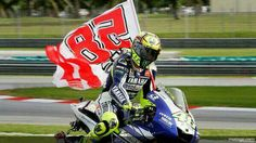 Sadly, autumn does not only bring the end of the MotoGP season, but the rememberance of Marco Simoncelli, killed in a tragic accident during the Malaysian Grand Prix at Sepang, October Motogp Valentino Rossi, Valentino Rossi 46, Vale Rossi, Mein Hobby, Sepang, Vr46, Busa, Sportbikes, Street Bikes
