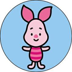 Juguetes para niños y libros educativos Disney Cuties Piglet Botón B-DIS-0117