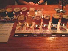 Beer sampler at Rock Botton Brewery in Portland, Oregon