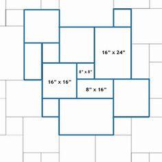 versailles floor pattern | Versailles Tile Pattern Layout