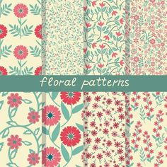 Floral patterns. Patterns