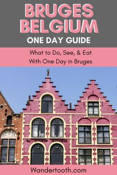 One Day in Bruges Belgium: How to Spend a Perfect Day in Bruges, TRAVEL, Heading to Bruges, Belgium? This Bruges travel guide will help you plan a perfect trip if you only have 1 day in Bruges! Visit Belgium, Belgium Europe, Travel Belgium, Europe Travel Guide, Travel Guides, Spain Travel, Holland, Barcelona Travel, Roadtrip
