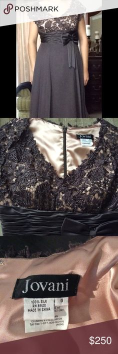 Elegant Jovani chocolate brown cocktail dress Very elegant beaded padded breast, with light chiffon bottom. In great condition worn once Jovani Dresses