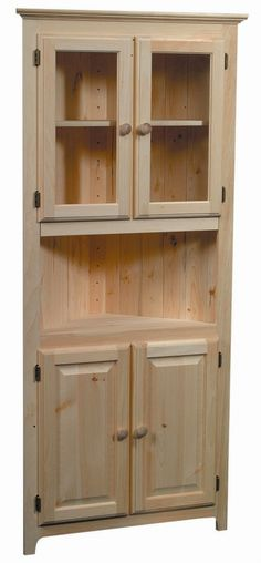 corner furniture. corner cabinet without doors on top just shelves great for a smaller furniture
