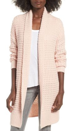 waffle knit cardigan by Leith. Warm, chunky and totally cozy. This waffle-knit top layer will give you good reason to stay in this weekend or brave ...