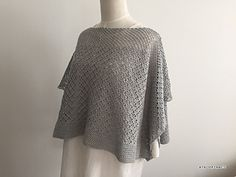 This very nice spring poncho made with the yarn that 70% of Supima cotton and 30% of shrink-proofing merino wool.