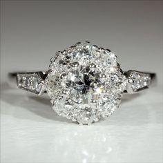 Vintage 18k and Platinum Art Deco Diamond Engagement Ring c.1930