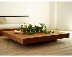Love this beauty of a coffee table from Hiromatsu Furniture Inc. Coffee Table Plants, Coffee Table Decor Living Room, Center Table Living Room, Low Coffee Table, Decorating Coffee Tables, Coffee Table Design, Home Decor Furniture, Luxury Furniture, Furniture Design