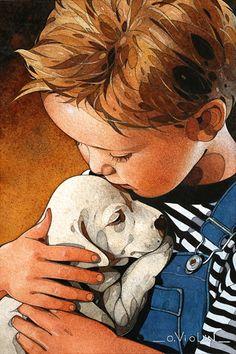 Aquarelles et dessins. Paysages, marines, voiliers, Bretagne, portraits d'enfants, peintures animalières... Démonstration, pas à pas.