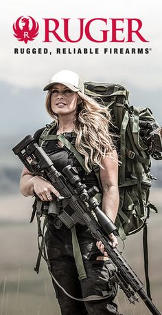 Ruger precision rifles are purpose-built to distance itself from the typical long range rifle. Revolver, Zombie Apocalypse Outfit, Ruger Precision Rifle, Warrior Girl, Warrior Princess, Shooting Guns, Military Women, Female Soldier, Hunting Rifles