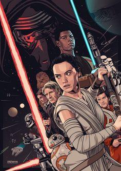 Fan poster of Star Wars Episode VII: The Force Awakens // by Amien Juugo Star Wars Meme, Star Wars Film, Star Wars Quotes, Rey Star Wars, Star Wars Fan Art, Star Wars Poster, Star Wars Tattoo, Episode Vii, Star Wars Wallpaper