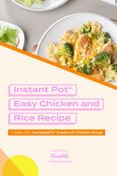 Easy Chicken And Rice, Chicken Wing Recipes, Chicken Soup, Instant Recipes, Instant Pot Dinner Recipes, Instant Pot Pressure Cooker, Pressure Cooker Recipes, Rice Recipes, Cooking Recipes