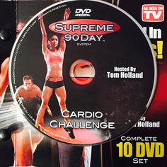 """CARDIO CHALLENGE.  **Supreme 90Day System, """"Get Ripped in 90Days!"""" Cardio Challenge, Workout Calendar, Get Ripped, Dvd Set, Nutrition Guide, See On Tv, Supreme, Challenges, Boot Camp"""