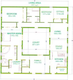 Great House Plan 192 00029   Green Plan: 1,600 Square Feet, 3 Bedrooms, 2  Bathrooms | Square Feet, Squares And Bedrooms