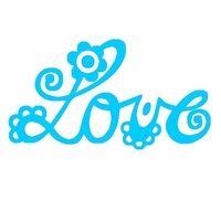 LOVE belettering, licht turkoois, Love & Peace, velours motief - PeppAuf.de