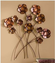 Flower Metal Wall Art metal flower wall art decor - beautiful flower 2017