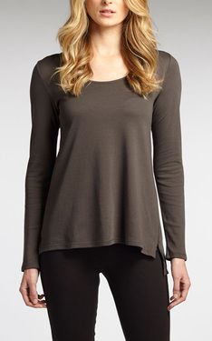 Luxe Scoop Neck in Graphite by Indigenous