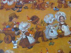 Vintage Hallmark Thanksgiving Gift Wrap by VintageJoysAndJewels, $4.00
