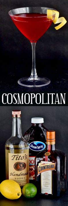 This Cosmopolitan Cocktail recipe is a classic! It is easy to make and perfect for sipping on with friends or by yourself on a random Tuesday night.