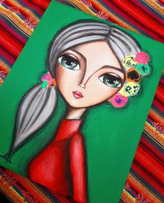 Mujercitas en pequeños formatos... 24 x 30💖 #romilerdart Abstract Face Art, Funny Paintings, Acrylic Painting Flowers, Pop Art Girl, Salon Art, Cartoon Art Styles, Rock Painting Designs, Diy Canvas Art, Arte Pop