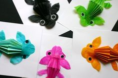 Japanese koi fish,,,,,3 D project. No instructions in english --but ...