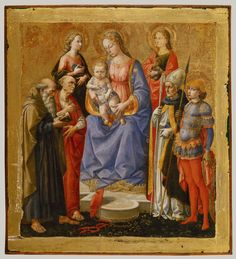 Madonna and Child with Six Saints (by Pesellino; Florence ca. late 1440s)
