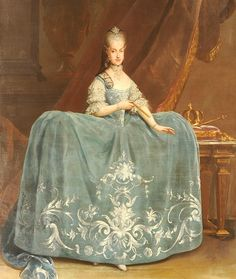 María Carolina de Austria by Martin van Meytens - Interesting and forgotten - life and curiosities of past eras. - Fashion of the 18th century. Ladies and pane- (1730-1775)
