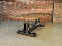 Vintage Industrial Post Industrial Table